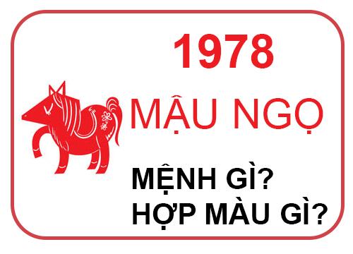 Sinh Năm 1978 năm con gì ? Mệnh gì ? Hợp phong thủy nhất @2020
