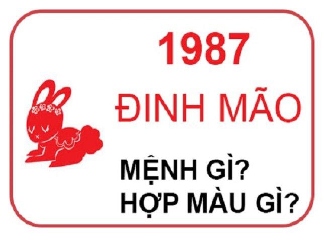 Năm 1987 tuổi con gì ? Mệnh gì ? Hợp phong thủy nhất @2020