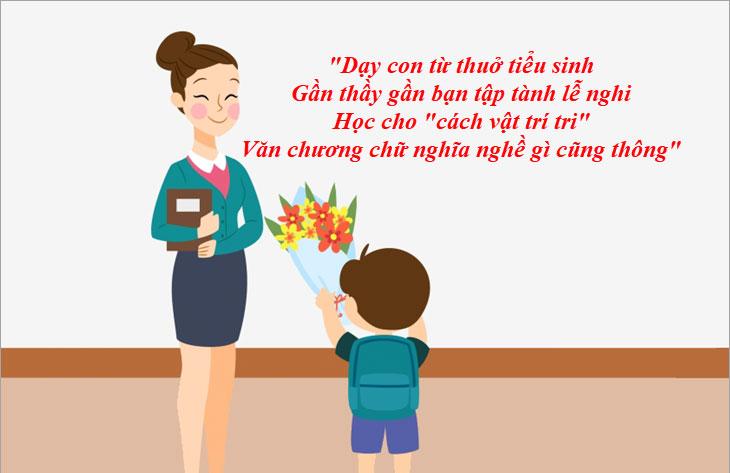 Câu ca dao tục ngữ về thầy cô về ngày 20/11 đầy đủ và ý nghĩa