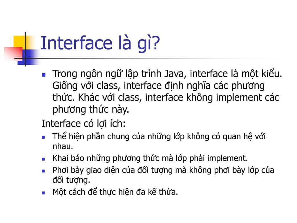 Interface là gì? Đặc điểm của Interface trong lập trình đối tượng. #2021